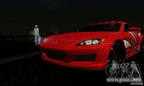 Mazda RX-8 Tuneable para la vista superior GTA San Andreas