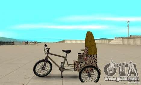 Manual Rickshaw v2 Skin4 para GTA San Andreas left