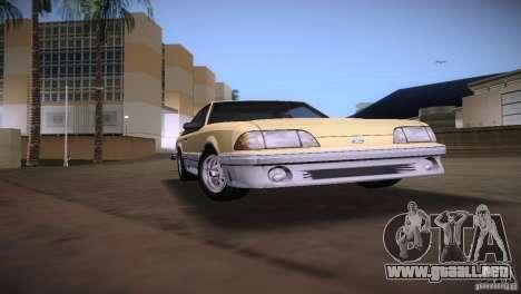 Ford Mustang GT 1993 para GTA Vice City visión correcta