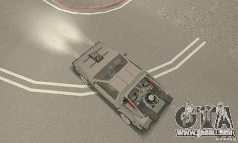 DeLorean DMC-12 (BTTF3) para GTA San Andreas vista posterior izquierda