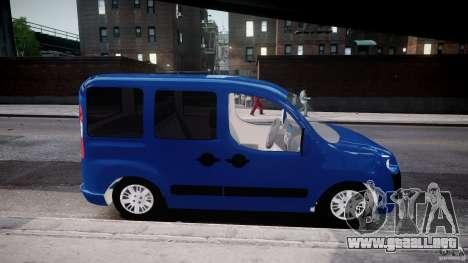 Fiat Doblo 1.9 2009 para GTA 4 vista hacia atrás