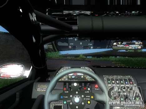 BMW M3 GTR1 para GTA San Andreas vista hacia atrás