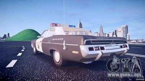 AMC Matador CHP [ELS] para GTA 4 vista desde abajo