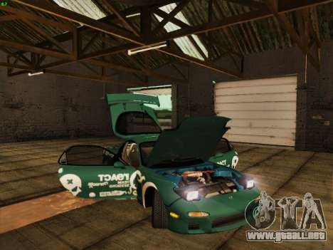 Mazda RX7 rEACT para vista lateral GTA San Andreas