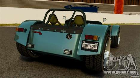 Caterham Superlight R500 para GTA 4 Vista posterior izquierda
