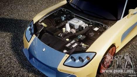 Mazda RX-7 Veilside v0.8 para GTA 4 vista hacia atrás