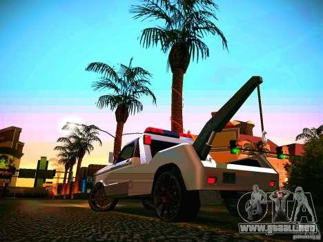 Towtruck tuned para GTA San Andreas vista posterior izquierda