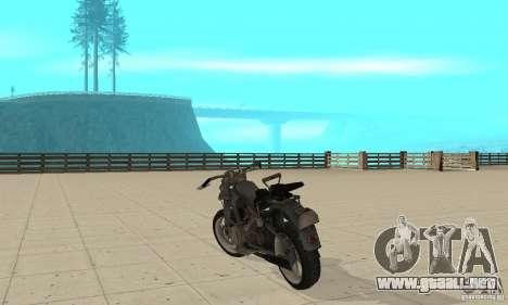 Bike Wolfenstein para GTA San Andreas vista posterior izquierda