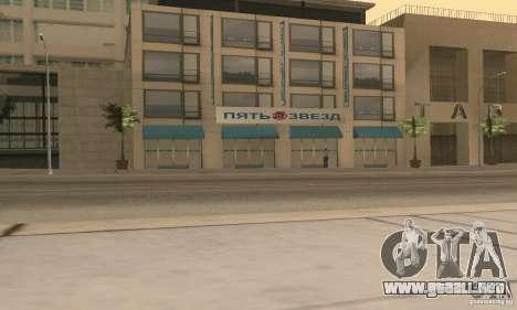 Servicio de parte de cinco estrellas y repuestos para GTA San Andreas quinta pantalla