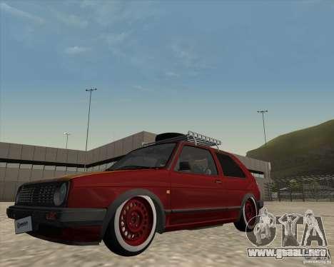 VW Golf II Shadow Crew para visión interna GTA San Andreas