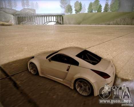Nissan 350Z AdHoc para GTA San Andreas vista posterior izquierda
