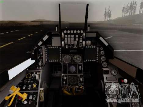 F-16C Warwolf para la vista superior GTA San Andreas
