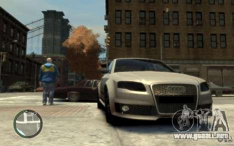 Audi RS4 para GTA 4 vista hacia atrás