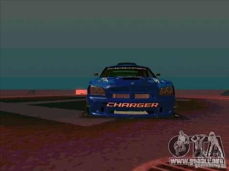 Mopar Dodge Charger para GTA San Andreas vista hacia atrás