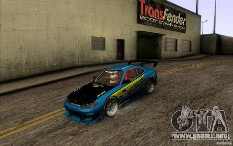 Nissan Silvia S15 Drift Style para vista lateral GTA San Andreas