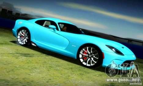 Dodge Viper SRT  GTS para la visión correcta GTA San Andreas