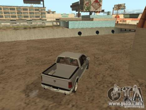 Dodge Ram para GTA San Andreas vista posterior izquierda