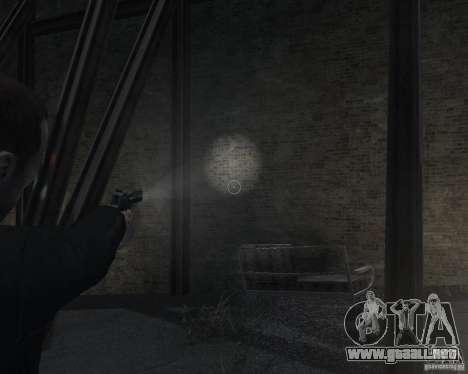 Flashlight for Weapons v 2.0 para GTA 4 sexto de pantalla