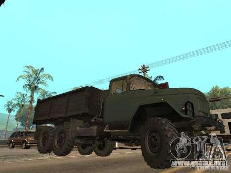 ZIL 131 camión para vista inferior GTA San Andreas