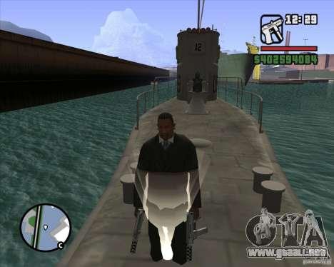 U99 German Submarine para GTA San Andreas novena de pantalla