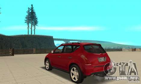 Nissan Murano 2004 para GTA San Andreas vista posterior izquierda