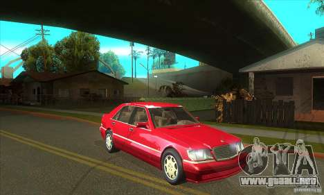Mercedes-Benz S600 1999 para visión interna GTA San Andreas