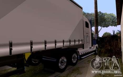 Freightliner SD 120 para GTA San Andreas vista hacia atrás