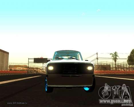 GAZ Volga 2410 Drift edición para visión interna GTA San Andreas