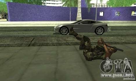 Sam Fisher Army SCDA para GTA San Andreas quinta pantalla
