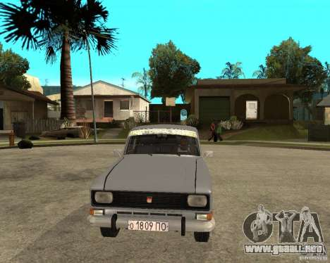 AZLK Moskvich 2140- para GTA San Andreas vista hacia atrás