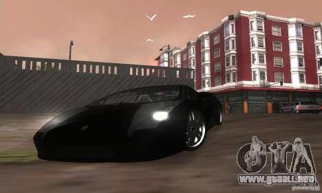 Lamborghini Gallardo para vista inferior GTA San Andreas