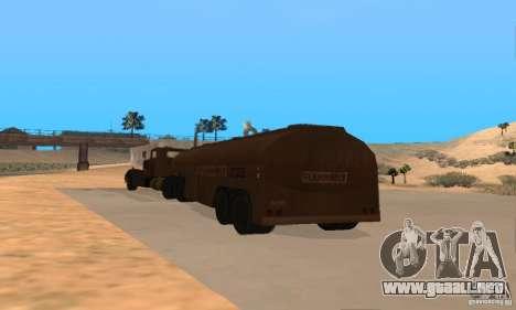 Remolque duelo Peterbilt para la visión correcta GTA San Andreas