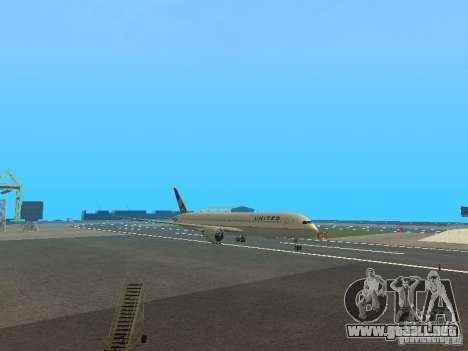 Boeing 787 Dreamliner United Airlines para GTA San Andreas left
