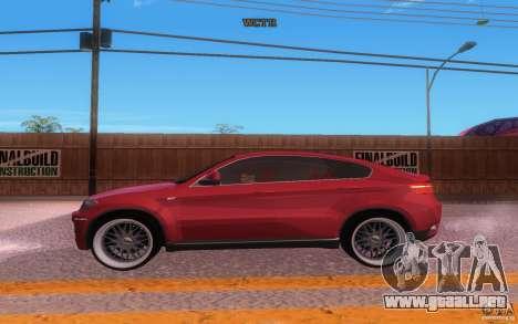 BMW X6 Tuning para visión interna GTA San Andreas