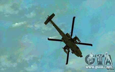 Apache AH64D Longbow para vista inferior GTA San Andreas