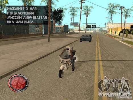 Además del HUD de GTA IV para GTA San Andreas sucesivamente de pantalla