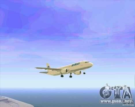 Airbus A-320 aerolínea UTair para el motor de GTA San Andreas