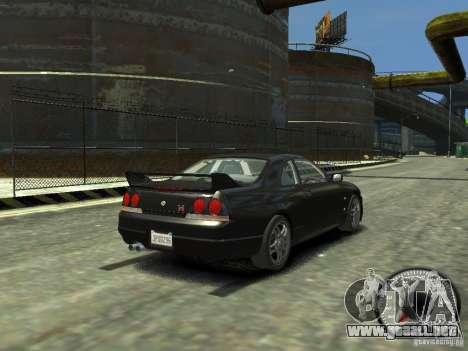 Nissan Skyline GT-R V-Spec (R33) 1997 para GTA 4 Vista posterior izquierda