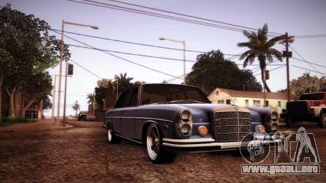 Mercedes Benz 300 SEL - Custom RC3D Edit para visión interna GTA San Andreas