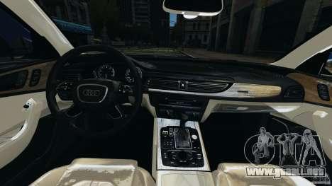 Audi A6 para GTA 4 vista hacia atrás