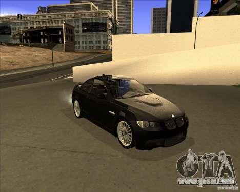 BMW M3 Convertible 2008 para GTA San Andreas left
