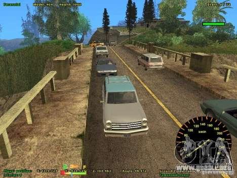 DMX para GTA San Andreas sucesivamente de pantalla