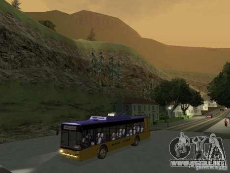 Trolebús LAZ e-183 para GTA San Andreas