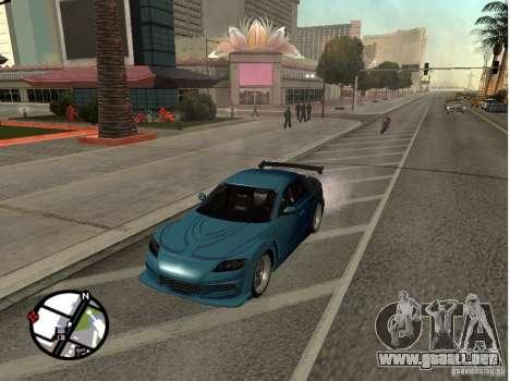 Mazda RX8 para visión interna GTA San Andreas