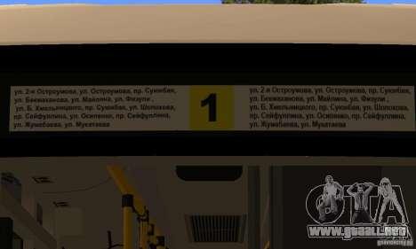 Daewoo Bus BC211MA Almaty para GTA San Andreas vista hacia atrás