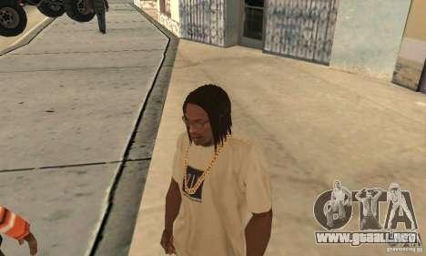 Pelo largo y negro para GTA San Andreas