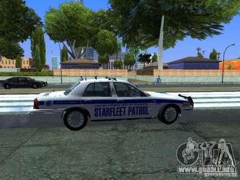 Ford Crown Victoria Police Interceptor 2008 para GTA San Andreas vista hacia atrás
