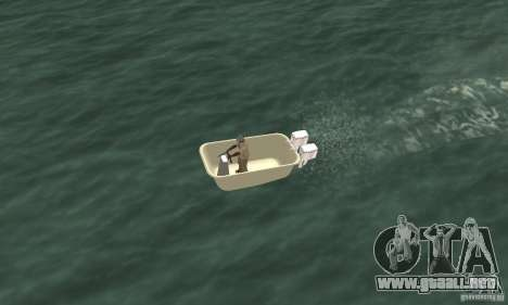 Bathtub Dinghy para la visión correcta GTA San Andreas