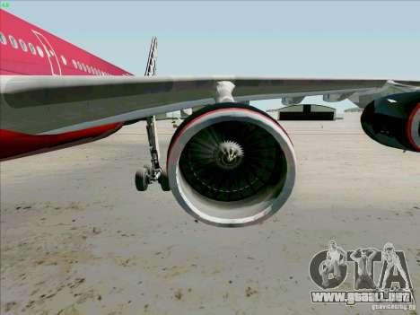 Airbus A-340-600 Formula 1 para visión interna GTA San Andreas