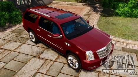 Cadillac Escalade ESV 2012 para GTA 4 vista superior